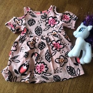 Cat & Jack girl floral dress size 12 months NWT